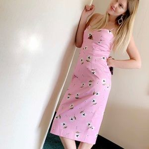 Milly Dresses - MILLY UMA dress in pink and white